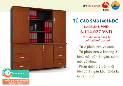 Tủ tài liệu cao Fami SM8140H-DC