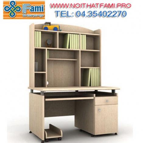 Tiện lợi và tiết kiệm diện tích với bàn liền kệ sách Fami