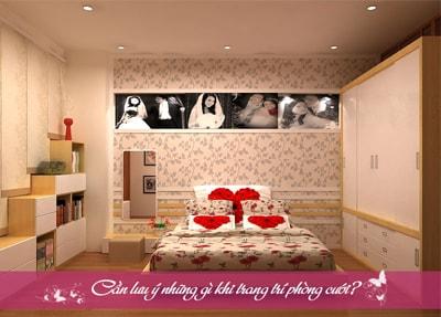 Cần lưu ý những gì khi trang trí phòng cưới?