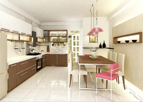Tủ bếp gia đình nên có kích thước nhỏ gọn