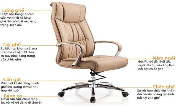 Lựa chọn ghế văn phòng Fami dành cho lãnh đạo
