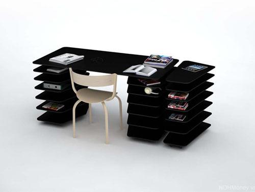 Thanh thoát và tiện dụng với bàn làm việc Strates (Strata)