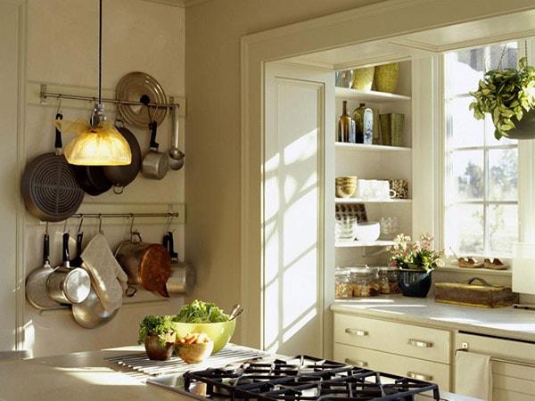 Thiết kế bếp thông thoáng tự nhiên