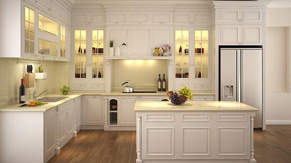 Sử dụng nội thất tủ bếp để nhà bếp luôn gọn gàng