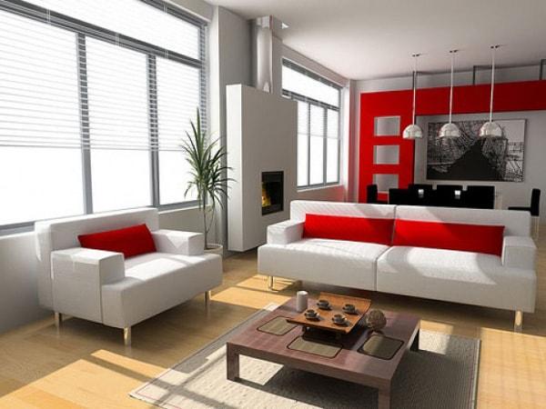 Trang trí phòng khách hợp lý nhất là không gian tiếp theo ngay sau cửa chính