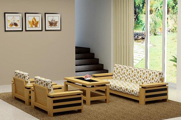 Người sống có nguyên tắc thích hợp với sofa gỗ