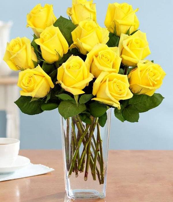 Cắm hoa màu vàng, màu xanh nhạt giảm sự căng thẳng