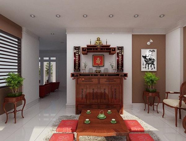 Vị trí đặt bàn thờ theo phong thủy cho nhà chung cư