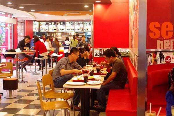Màu sắc hợp phong thủy cho nhà hàng ăn uống