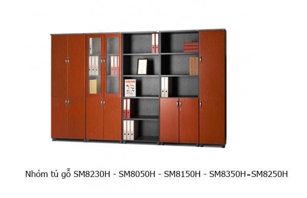 nhóm tủ tài liệu gỗ SM8230H, SM8050H, SM8150H, SM8350H, SM8250H