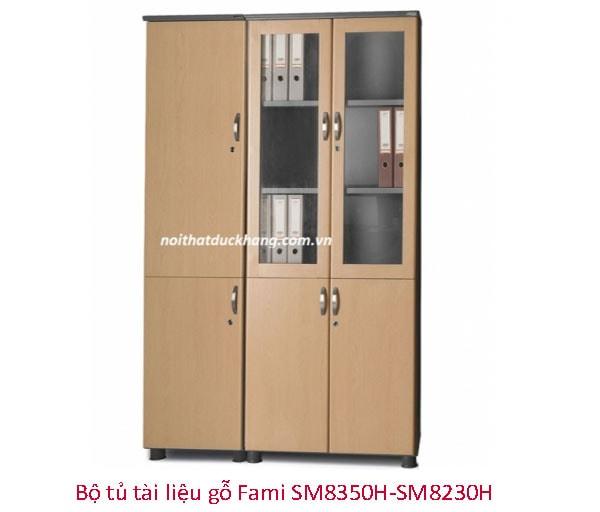 Bộ tủ tài liệu gỗ Fami SM8350H-SM8230H
