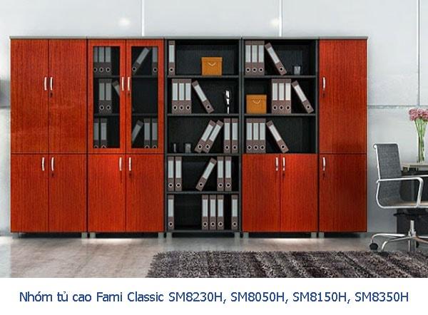 Chọn tủ gỗ cao 1m8, 2m cho văn phòng rộng và cao