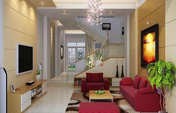Trang trí phòng khách hẹp
