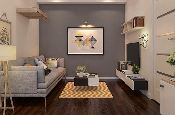 Trang trí tường cho phòng khách