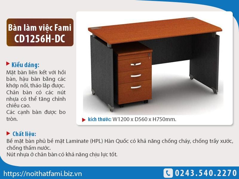 Bàn làm việc nhân viên Fami CD1256H-DC giá tốt