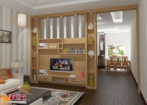 Vách ngăn gỗ có nhiều ưu điểm nổi bật