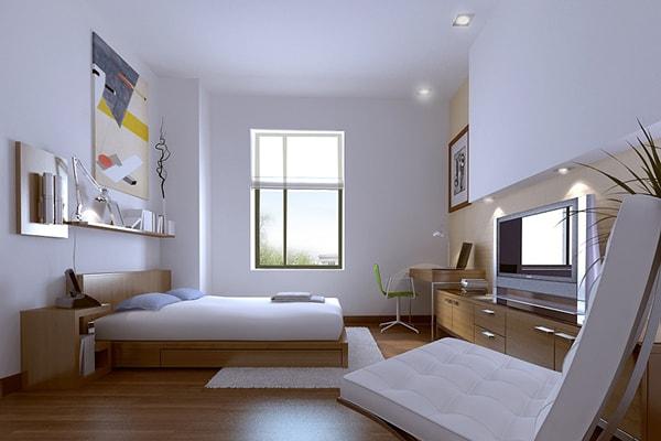 Treo tranh ảnh phía đối diện giường ngủ