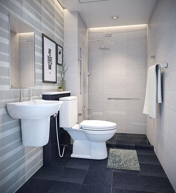 Phòng tắm kiêm vệ sinh