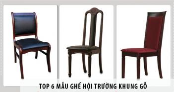Top 6 mẫu ghế hội trường khung gỗ nổi bật của Hòa Phát