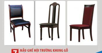 Top 7 mẫu ghế hội trường khung gỗ nổi bật tại Đức Khang