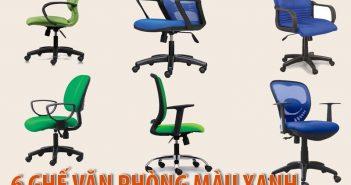 6 ghế văn phòng màu xanh giá dưới 1,5 triệu bán chạy nhất 2018