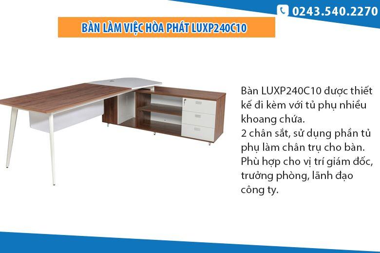 Bàn Hòa Phát có ngăn kéoLUXP240C10