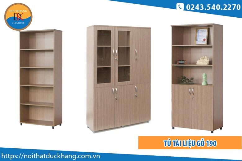Đối với tủ tài liệu gỗ: Giá từ 1 – 4,5 triệu
