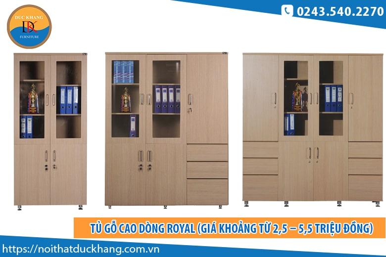 Tủ gỗ cao dòng Royal (Giá khoảng từ 2,5 – 5,5 triệu đồng)