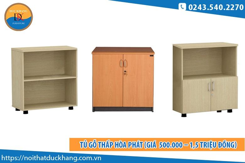 Tủ gỗ thấp Hòa Phát (Giá khoảng từ 500.000 – 1,5 triệu đồng)