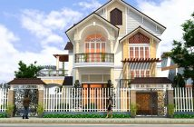 Mẫu biệt thự 2 tầng 1 tum mặt tiền 8m ấm áp tại Nam Định